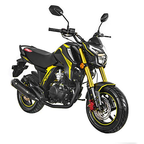 Lifan 2020 Version 150cc Gas Motorcycle Adult Motorcycle Moped Scooter KP Mini 150 Street Motorcycle Bike Assembled,Yellow
