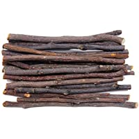 Pet/Bunny/ Hamster/Rabbit Chew Toys, Auoker Natural Apple Wood Sticks Branches Snacks Clean Teeth and Healthy Gums for…