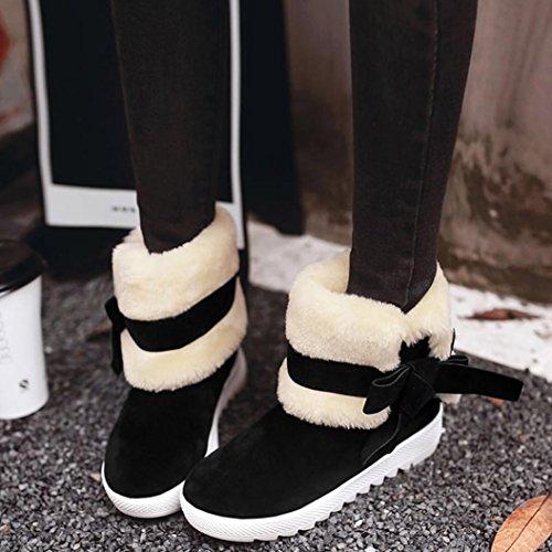 Invernali Stivali Bowknot Caldi Stivali Women Invernali Black SOMESUN Lady Scarpe Caldi donna Boots Calzari Stivali da 448xU0w