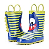 KushyShoo Boys and Girls Rubber Rain Boots In Fun Prints,Waterproof Kids Wellies