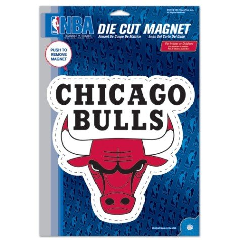 Poster Bulls Chicago Team - Wincraft NBA Chicago Bulls Die Cut Logo Magnet, 6.25