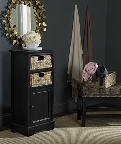 Safavieh AMH5742A American Homes Collection Connery Distressed Black Cabinet by Safavieh