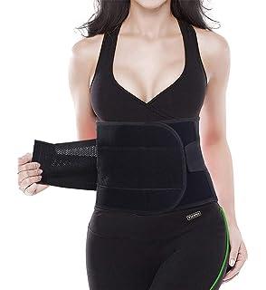 Wood.L Mujer Cintura Entrenador Fajas Reductoras Adelgazantes Mujer Fajas Reductoras Adelgazantes Faja Reductora Cintur/ón Lumbar Abdomen Adjustable para Deporte Fitness