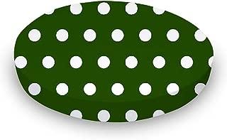product image for SheetWorld Round Crib Sheets - Polka Dots Hunter Green - Made In USA