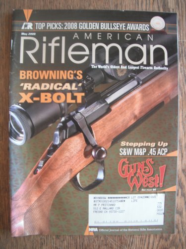 American Rifleman May 2008 (The Official Journal of the National Rifle Assn.)