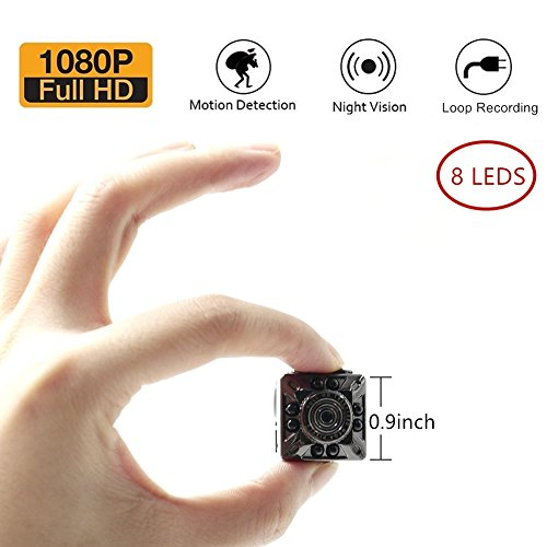 Moosoo 1080P/720P 8 Infrared LED Night Vision Motion Detection HD Camera Nanny Cam Home Security Camera SD Card Storage