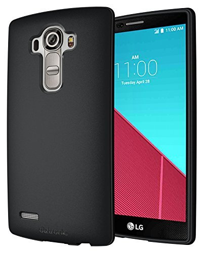 LG G4 Case, Diztronic Full Matte Soft Touch Flexible TPU Case for LG G4 - Black - (LG4-FM-BLK)