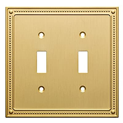 Franklin Brass Classic Beaded Double Switch Wall Plate/Switch Plate/Cover