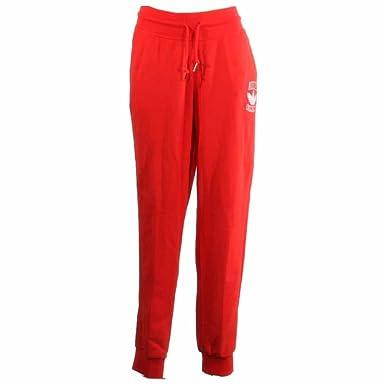 Adidas Originals Women's Slim Cuffed Jogger Track Pants Red XL