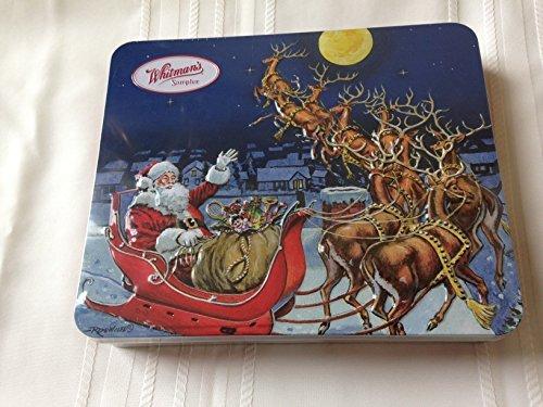Whitmans Sampler Santa and Reindeer Christmas Tin, Assorted Chocolates, 10 oz (Tin Christmas Santa)
