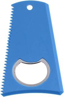Non-brand 8cm X 5,2 Centimetri Durevole Surf Surfboard Wax Comb Wra Remover Raschietto Con Bottiglia Open Hole - 3 Lati Versatilità