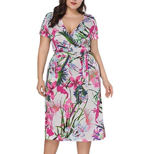 De Femmes 44 Bohême La Plus Été En Ai Vacances Imprimé Taille V Col 54 Rose Plage Robe moichien 1Z5wxZ4q7