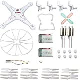 Syma Replacement,eTopxizu Original Syma X5 X5C X5C-1 Quadcopter Spare Parts Crash Pack Kit,Syma X5C Motor&Gear ,Blade with Frame ,Body Shell,X5 X5C LED lights Cover and battery,Landing Skid & Screws