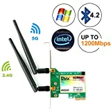 Ubit Dual-Band 1167Mbps Wireless Network Card,8260 Wireless Network Card with Bluetooth 4.2,Dual-Band 5Ghz-867Mbps/2.4Ghz-300Mbps,Pci-e