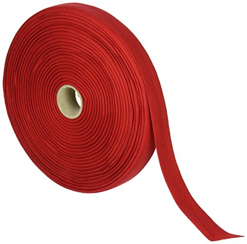 Products From Abroad 107-25-08 Cotton Twill Tape, 1-Yard x 55-Yard, Red (Red Tape Twill)