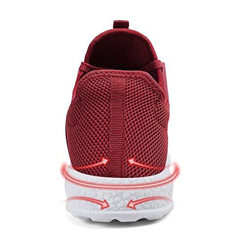En Lacets Et Femme Zocavia Rouge Leger Sport Homme Chaussures Basket blanc Mesh De Confortable Running Chaussure w44ft8qa
