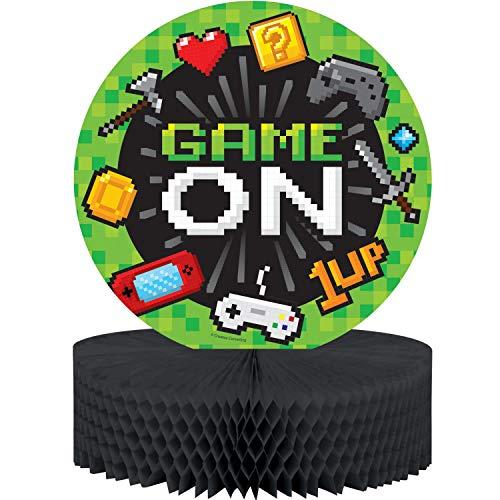Creative Converting Party Supplies, Video Game Party Centerpiece, Centerpiece, Multicolor, -