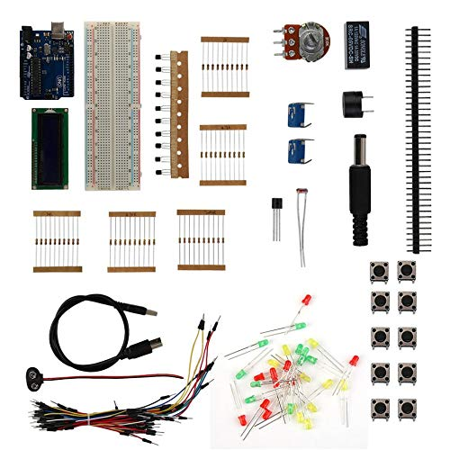 DIY Kits Starter Learning Kit Suitable for Arduino-Uno Rev.3ATmega328(Multi-Color Mixed) ()