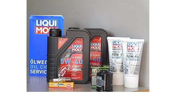 Mantenimiento Set Aprilia Sr Max 300 aceite endantriebsöl Bujía Inspección Service: Amazon.es: Coche y moto