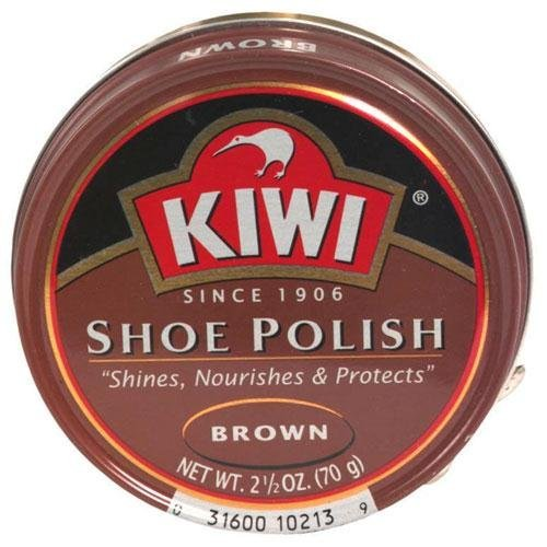 Kiwi Wax Shoe Polish, Giant Size 2.5 oz, Brown