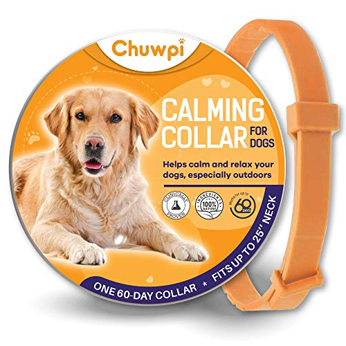 CHUWPI Calming Collar for Dogs - Pheromone Calm Collars, Anxiety Relief Fits Small Medium and Large Dog - Adjustable and Waterproof with 100% Natural