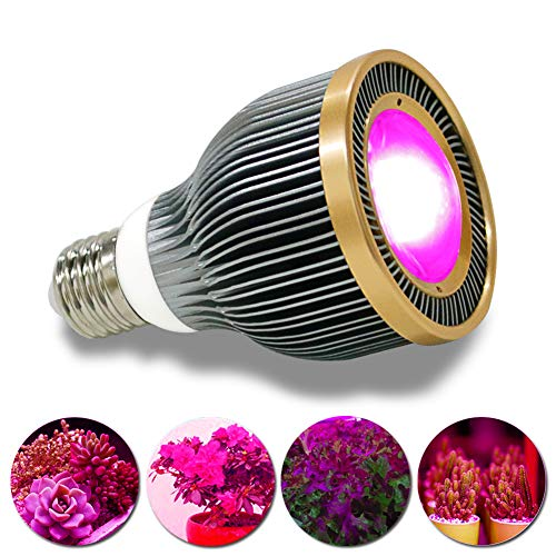 LED Grow Light Bulb,GrowMol 27W Plant Growing Lights Bulbs, Full Spectrum COB LED Grow Lamp Bulbs with UV&IR for Indoor Plants Succulent Flowers Tobacco Vegetable Seedling