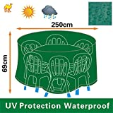 Patio Outdoor Garden Furniture Cover Winter Protector Round Square Table Chair Set-GREEN