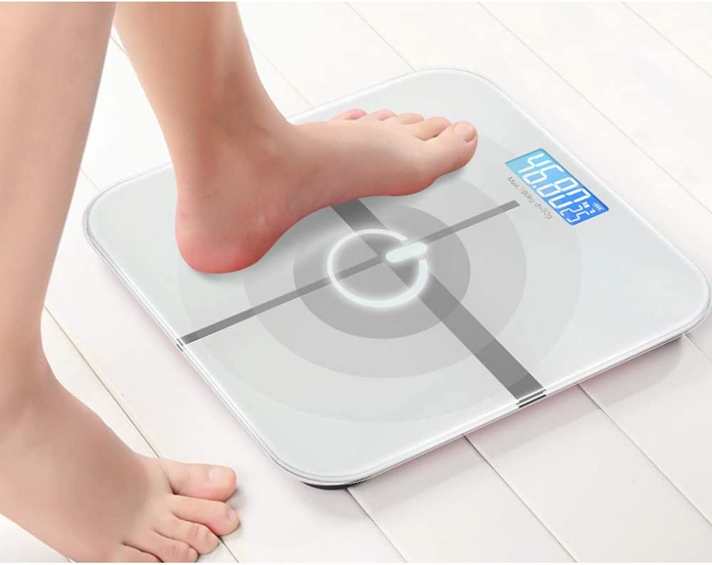 USB Rechargeable Electronic Weighing Scales Home Health Human Scale accurate Adult Weighing Instrument (Color : Gold) Gold
