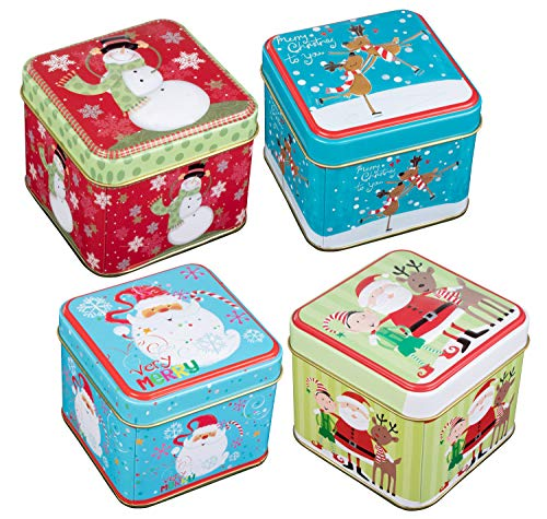 Christmas Cookie Candy Storage Containers with Lids