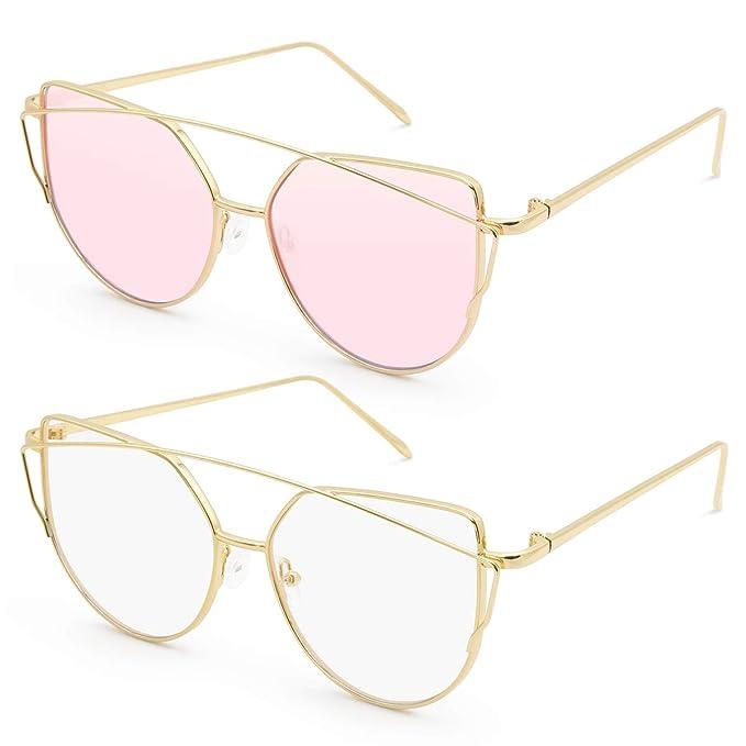 845b810951 LIVHÒ G | Occhiali da Sole Donna a Specchio Modello Cat Eye con Struttura  in Metallo e Protezione UV400
