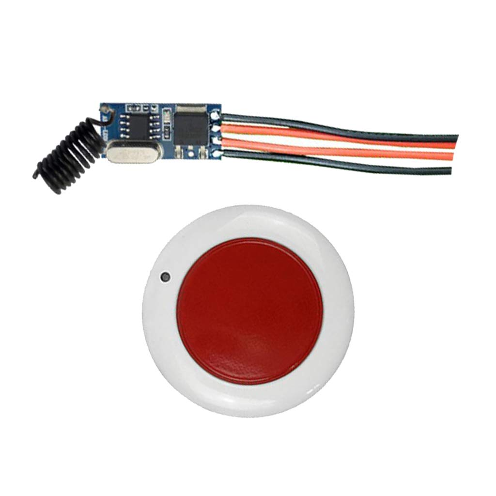 B Blesiya 2 Pieces DC12V-36V Small Panel Power Supply Lamps Round Remote Control Switch Set Black and Red by B Blesiya (Image #7)