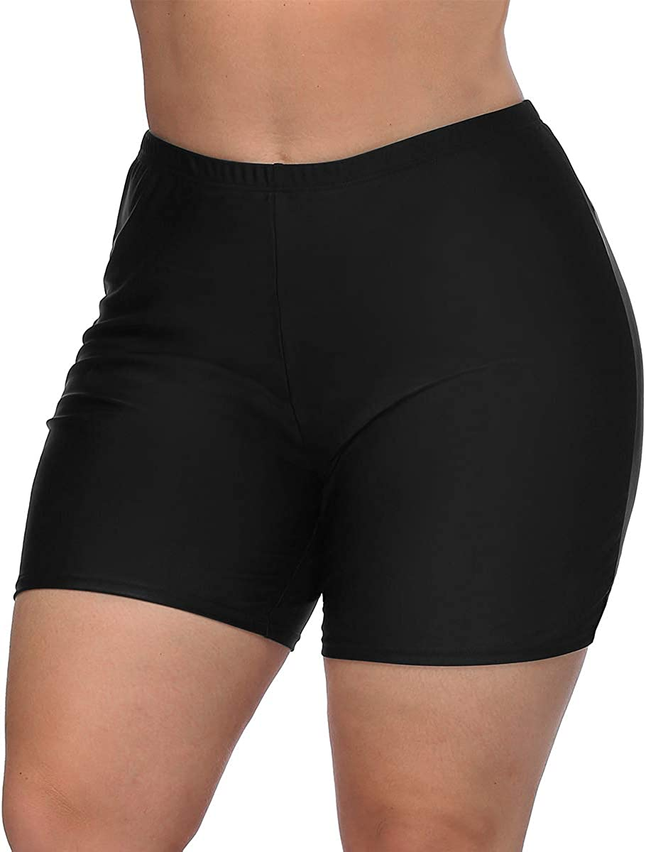 high waisted shorts swim bottoms