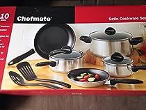 Chefmate Satin Cookware Set 10 Pc