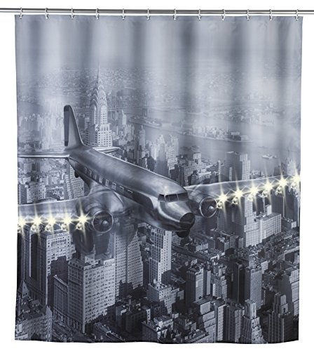 WENKO Old Plane Shower Curtain, Multicolored]()