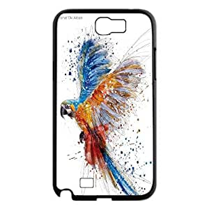 UNI-BEE PHONE CASE For Samsung Galaxy Note 2 Case -Funny Parrot-CASE-STYLE 7
