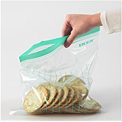 Ikea Sandwich Ziploc Bags, Freezer Safe and Reusable Food Storage Bags (30, 15 x 6qt / 15 x 4.5qt)