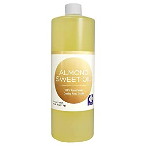 MD. Life Sweet Almond Oil for Skin 32oz – 100% Pure Almond Oil for Hair and Body - Carrier Oil – Natural Moisturizing Body Oil for Women – Almond Oil for Essential Oil – Food Grade for Cooking