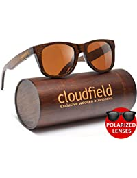 Wood Sunglasses Polarized for Men and Women by CLOUDFIELD...