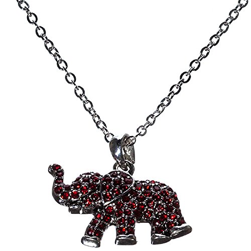 Sports Team Accessories 18 Inch Red Rhinestone Elephant Necklace ()