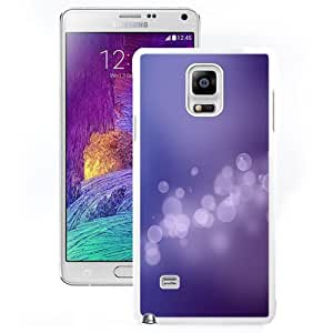 DIY and Fashionable Cell Phone Case Design with iOS 7 Bokeh Bubbles Purple Galaxy Note 4 Wallpaper in White