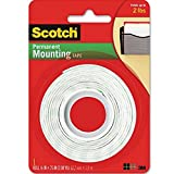 Scotch Permanent Mounting Tape, 0.5 x 75 inches Pack of 4
