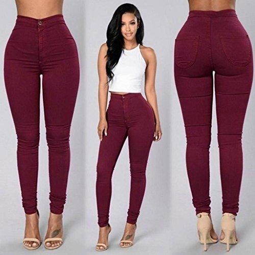 Jeans Denim XL Red Black Casual Pants Xinantime qgz8B