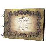 SICOHOME Scrapbook Album,10.5x7.5inch,Our Story Scrapbook Ablum