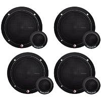 4) ROCKFORD FOSGATE R165-S 6.5 80 Watt 2-Way Car Component System Speakers