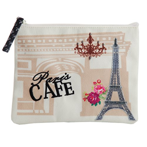 Chocolate Usa Gift Tower - Pinaken Coin Pouch & Purse for Girls, Small Zipper Card Case Wallet as Change Holder & Money Bag or Cell/Mobile Phone - unique Paris design