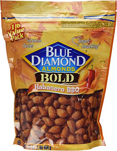 Blue Diamond Bold Almonds, Habanero BBQ, 1 lb