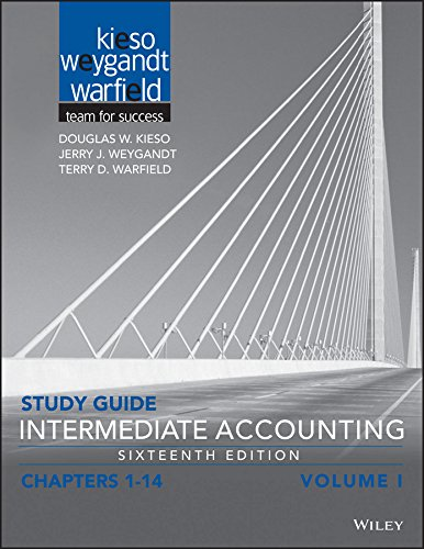 Study Guide Intermediate Accounting, Volume 1: Chapters 1 - 14