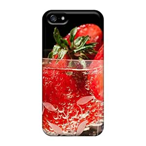 Faddish Phone Fresh Strawberries In Glass Case For Iphone 5/5s / Perfect Case Cover