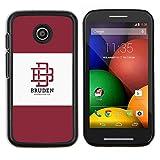 # Cellphone Hard Case PC Protective Cover Shell Case forMotorola Moto E ( 1st Generation ) # university brand maroon logo student # Gift Phone Case Housing #