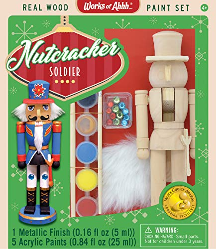 MasterPieces Works of Ahhh…Nutcracker Soldier Holiday Wood Paint Kit